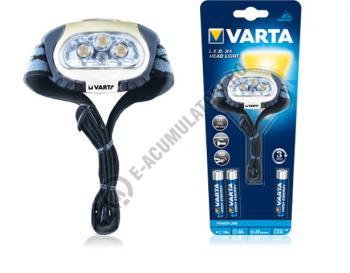 Lanterna Varta de cap H20 cu 4 LED-uri Outdoor Sports 3AAA cod 176312