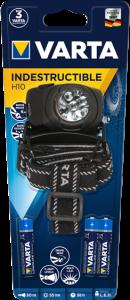 Lanterna Varta Indestructible de cap H10 5 LED-uri 3AAA 177300
