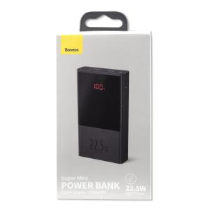 Power Bank 10.000mAh, Baseus Super Mini cu display digital, Incarcare rapida, 22.5W1