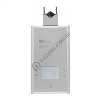 Sistem iluminat stradal PowerSave cu panou fotovoltaic Sunpower 86Wp, baterie inclusa si LED 50W0