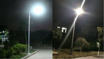 Sistem iluminat stradal PowerSave cu panou fotovoltaic Sunpower 86Wp, baterie inclusa si LED 60W2