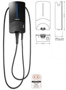 Statie Incarcare PURE II-22 Kw Cu Cablu Type 2 - 4,5 M1