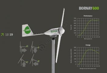 Turbina eoliana Bornay 600 W 12V 2 lame cu controller digital B600/123