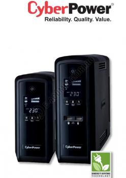 UPS Cyber Power CP1500EPFCLCD Line-Interactive 1500VA 900W AVR, LCD Display, 6 Schuko outlets, USB & Serial port0