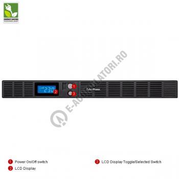 UPS rackabil Cyber Power OR1500ELCDRM1U Line-Interactive 1500VA 900W 1U rack space, LCD Display, 6 IEC OUTLETS, USB & Serial port3