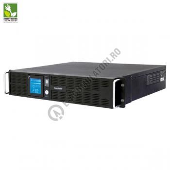 UPS Rackabil Cyber Power PR1000ELCDRT2U Line-Interactive 1000VA 700W AVR, LCD Display, 8 IEC OUTLETS, USB & Serial port1