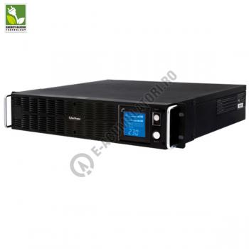 UPS Rackabil Cyber Power PR1500ELCDRTXL2U Line-Interactive 1500VA 1250W AVR, LCD Display, 10 IEC OUTLETS, USB & Serial port1