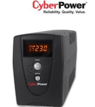 UPS resigilat Cyber Power VALUE800ELCD 800VA 480W AVR, LCD Display, 2 x Schuko outputs, USB & Serial port0
