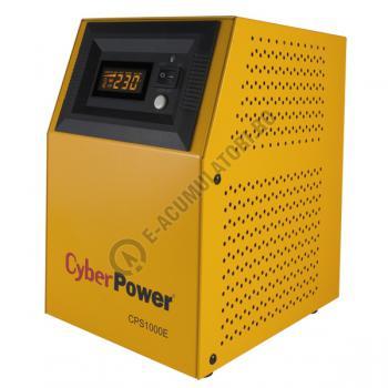 UPS pentru centrale termice Cyber Power CPS1000E 1000VA 700W cu 2 acumulatori VRLA Genesis NP75-12 75Ah2