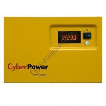 UPS pentru centrale termice Cyber Power CPS600E 600VA 420W cu acumulator VRLA 100 Ah1