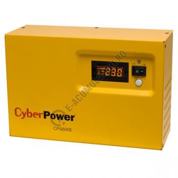 UPS pentru centrale termice Cyber Power CPS600E 600VA 420W cu acumulator VRLA 100 Ah0