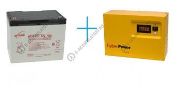 UPS pentru centrale termice Cyber Power CPS600E 600VA 420W cu baterie Genesis NP75-120