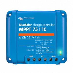Incarcator solar 12V 24V 10A Victron Energy BlueSolar MPPT 75/10 (12/24V-10A)0