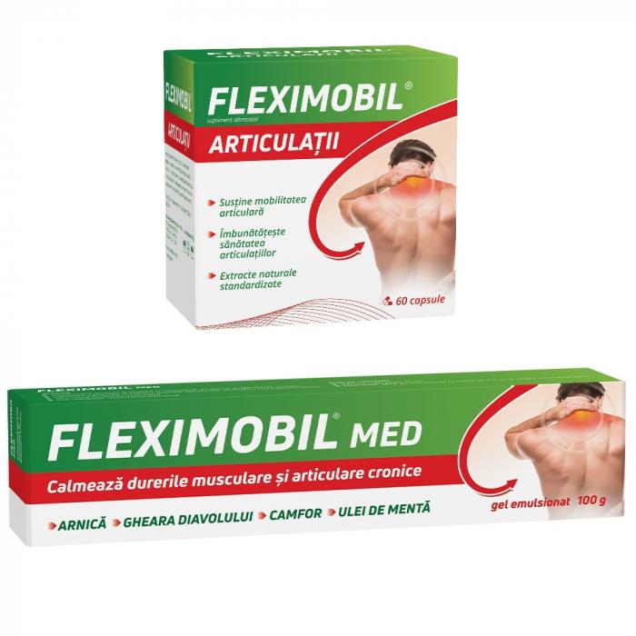Pachet Fleximobil Articulații, 60 capsule + Fleximobil MED gel emulsionat, 100 g, Fiterman Pharma [0]