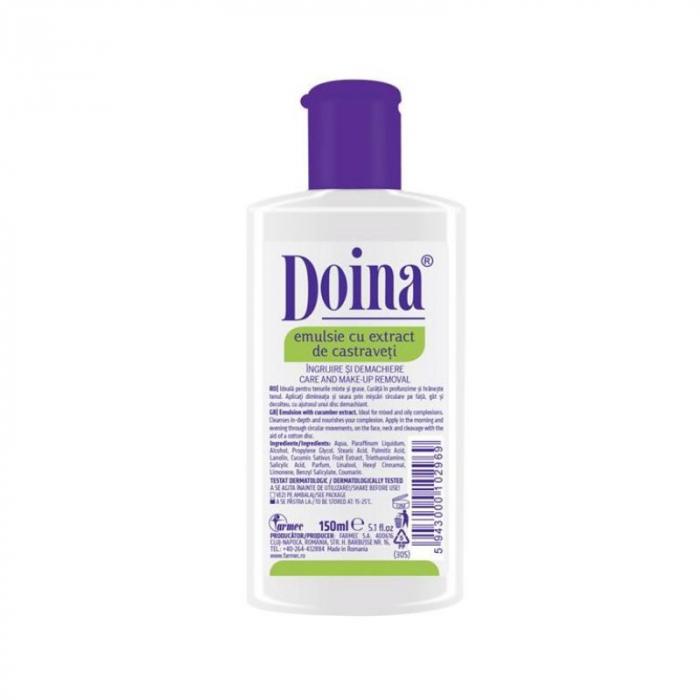 Emulsie nutritiva cu extract de castraveti Doina Formula 2, 150 ml, Farmec [0]