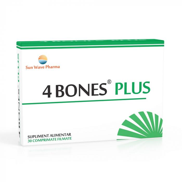 4 Bones Plus, 30 comprimate, Sun Wave Pharma [0]