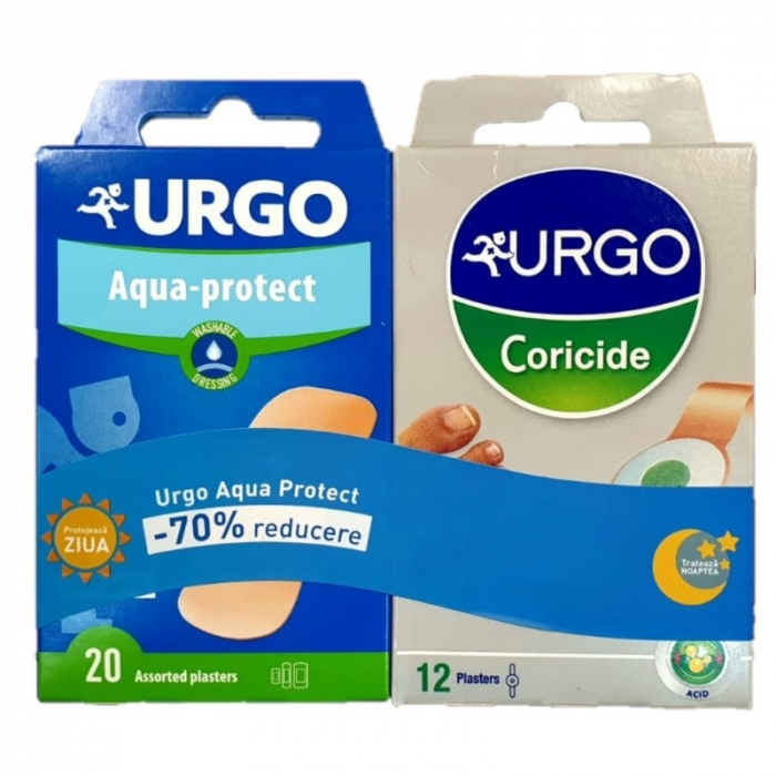 Urgo Pachet Plasturi 12 buc. Coricide + 20 buc. Lavabili 70% reducere [0]