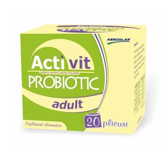 Probiotic pentru adulti Activit, 20 plicuri, Aesculap [0]