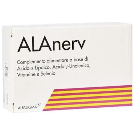 Alanerv, supliment alimentar pentru sistemului nervos, 20 capsule moi, Alfasigma [0]