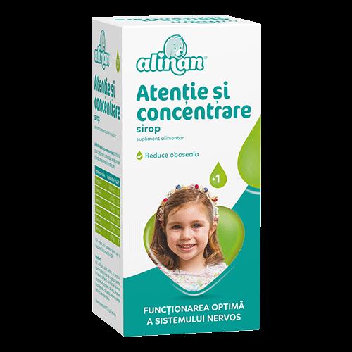Alinan Atentie si concentrare, 150 ml sirop [0]