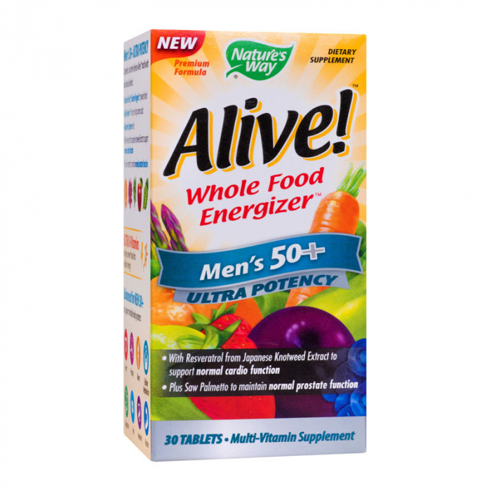 Alive Once Daily Mens 50+ Ultra Nature's Way, 30 tablete [0]