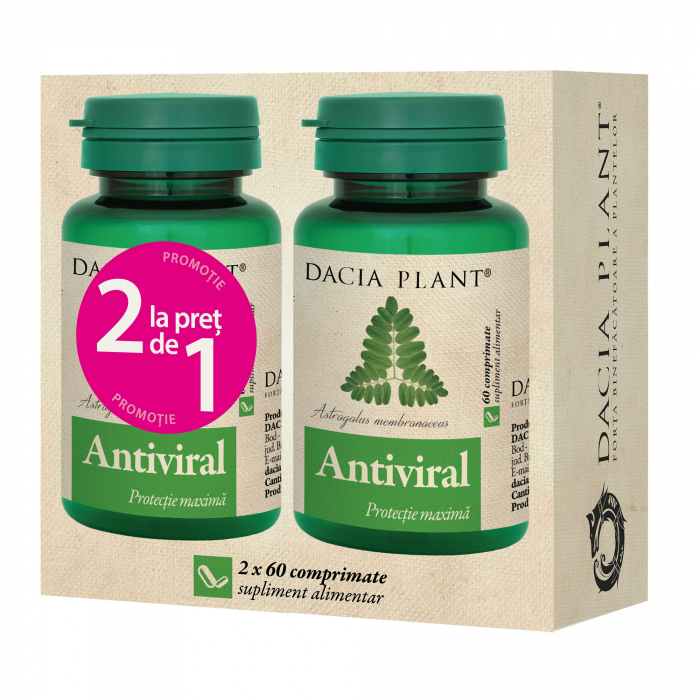 Antiviral x 60 comprimate, pachet 1+1 gratis, Dacia Plant [0]