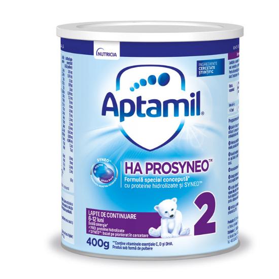 Formula de lapte HA Prosyneo 2, 6-12 luni, 400 g, Aptamil [0]