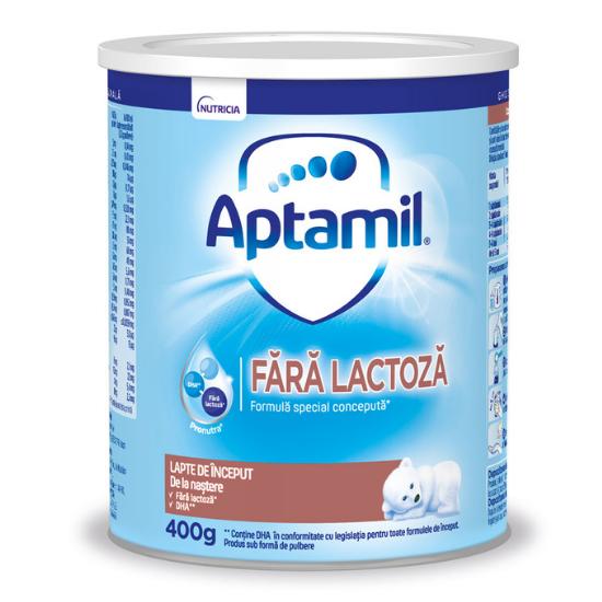 Formula de lapte de inceput Fara Lactoza, 400 g, Aptamil [0]