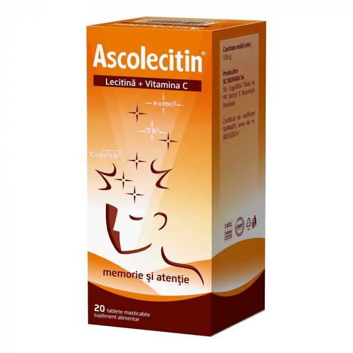 Ascolecitin, 20 comprimate, Biofarm [0]