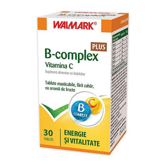 B-complex PLUS Vitamina C, 30 tablete [0]