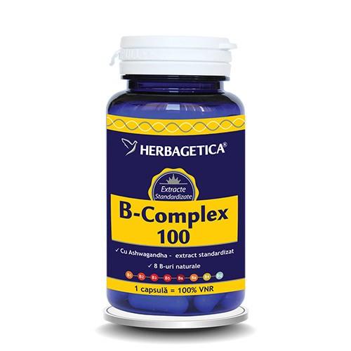B COMPLEX 100, 60 capsule, Herbagetica [0]