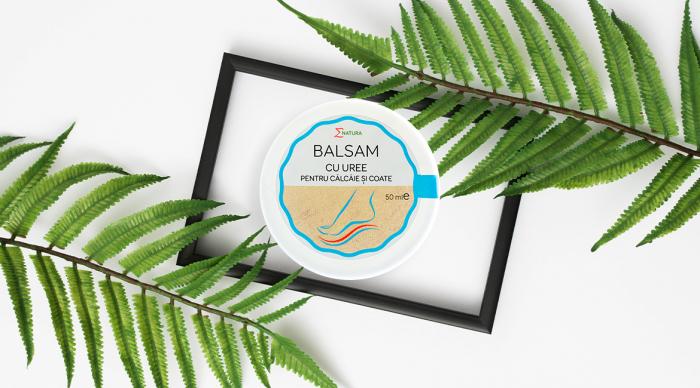 Balsam cu uree pentru coate şi călcâie, cutie 50 ml, ∑NATURA [0]