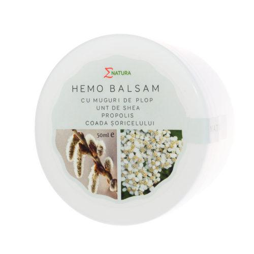 Hemo Balsam cu extract din muguri de plop şi unt de shea, cutie 50 ml, ∑NATURA [0]