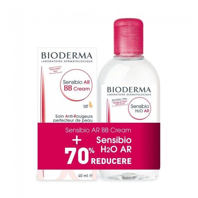 Bioderma Crema Sensibio AR BB, 40 ml + Soluție micelară Sensibio H2O AR, 250 ml [0]