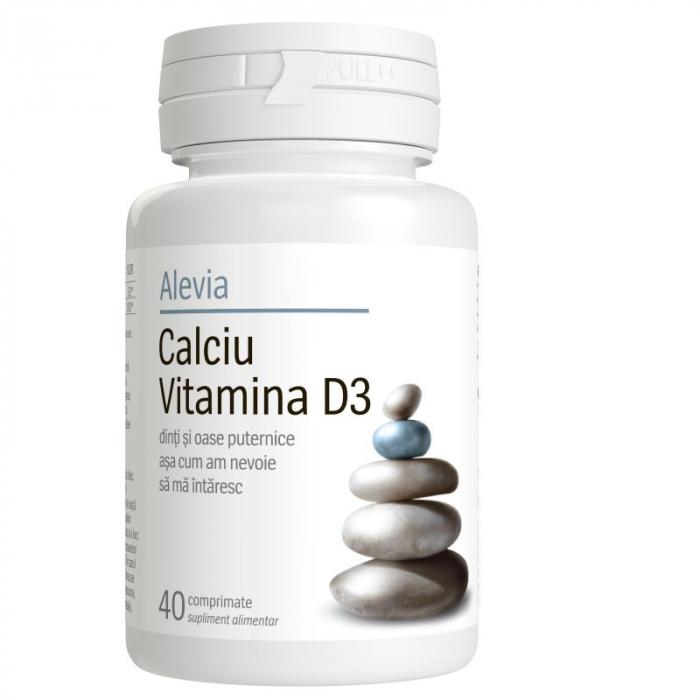 Calciu Vitamina D3, 40 comprimate, Alevia [0]