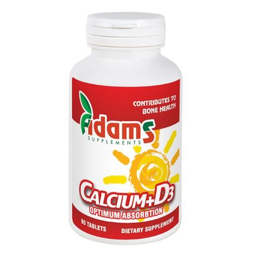 Calciu + Vitamina D3 90tab. Adams Supplements [0]