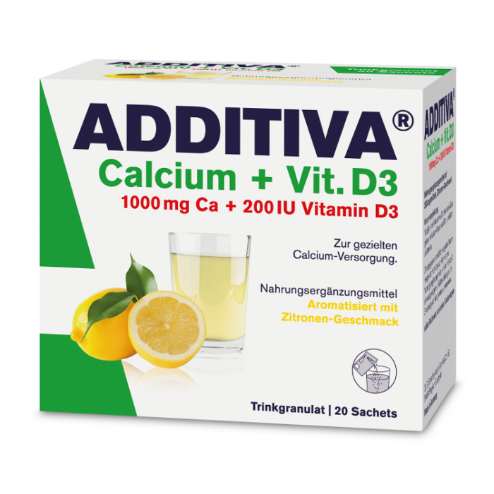 Calciu + Vitamina D3 Additiva, 20 plicuri, Dr. Scheffler [0]