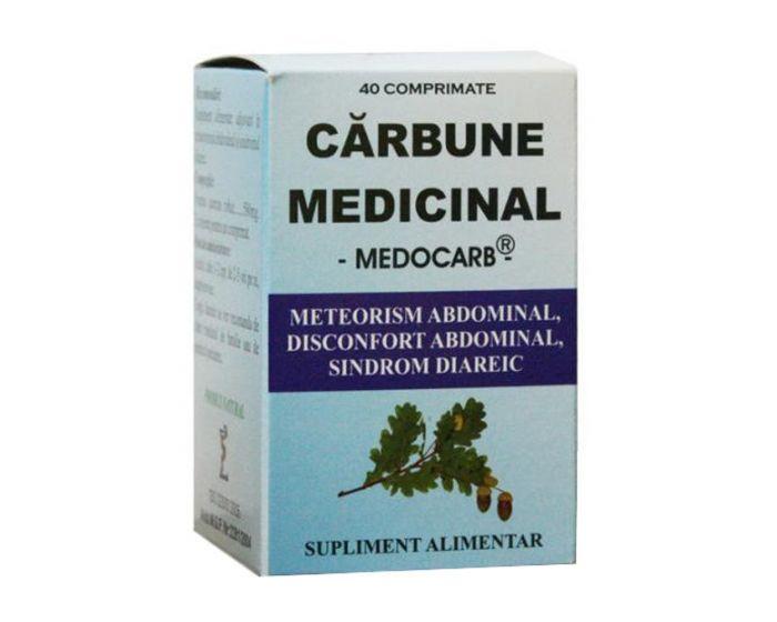 Cărbune medicinal, 40 comprimate, Elidor [0]