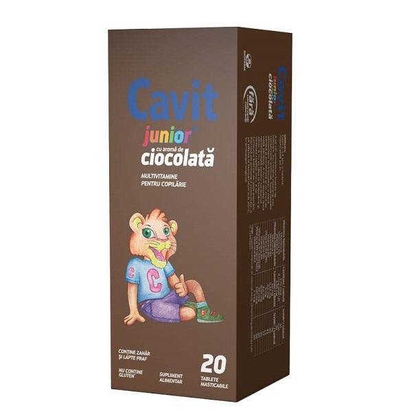 Cavit Junior ciocolată, 20 tablete, Biofarm [0]