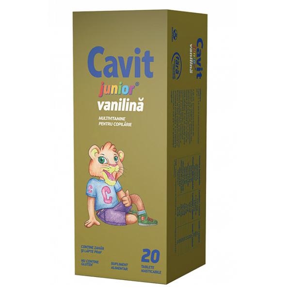 Cavit Junior vanilie, 20 tablete, Biofarm [0]