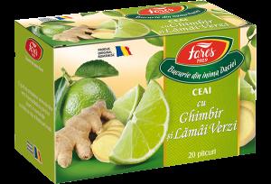 Ceai cu ghimbir si lamai verzi, 20 plicuri, Fares [0]