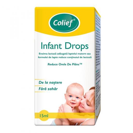 Picături cu enzima naturala lactaza Infant Drops, 15 ml, Colief [0]