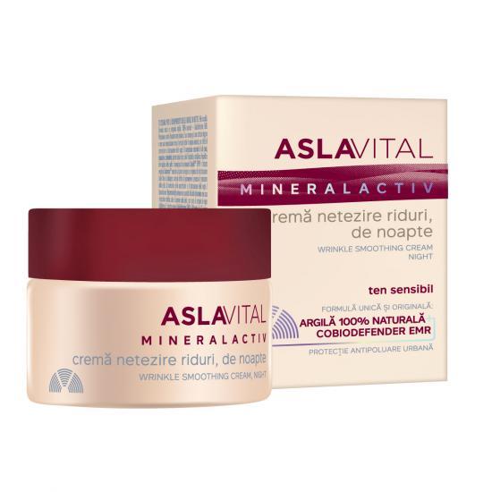 Crema de noapte pentru netezirea ridurilor Aslavital, 50 ml, Farmec [0]