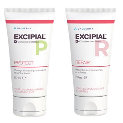 Cremă protectoare pentru mâini Excipial P Protect, 50 ml + Cremă pentru mâini uscate și iritate Excipial R, 50 ml- 50 % reducereGalderma [0]