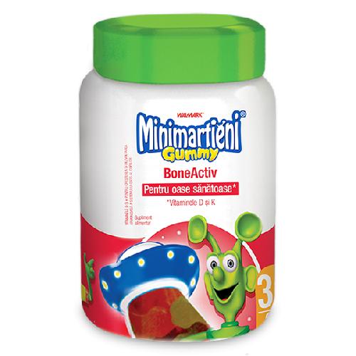 Minimarțieni Gummy BoneActiv, 60 jeleuri [0]