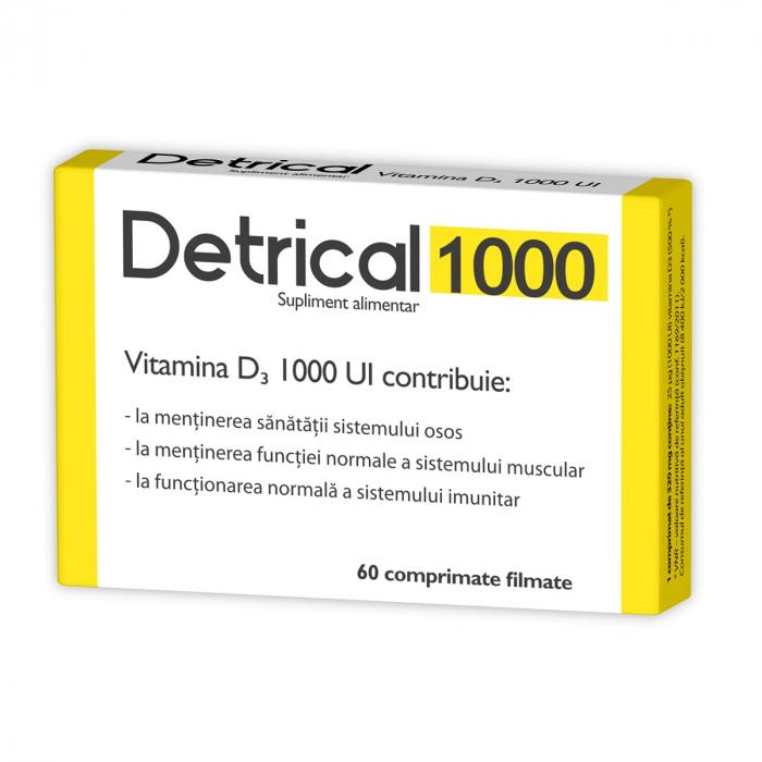 Detrical Vitamina D3 1000 UI, 60 comprimate filmate [0]