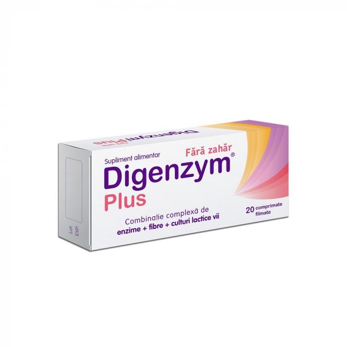 Digenzym Plus fără zahăr, 20 comprimate filmate, Labormed [0]