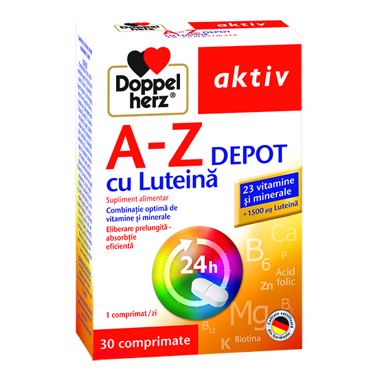 Doppelherz aktiv A-Z cu Luteină DEPOT, 30 comprimate [0]