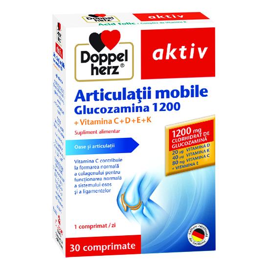 Doppelherz aktiv Articulații mobile Glucozamină 1200, 30 comprimate [0]