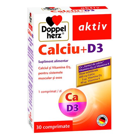 Doppelherz aktiv Calciu + D3, 30 comprimate [0]